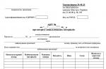 Типова форма № М-23 Акт про витрату давальницьких матеріалів